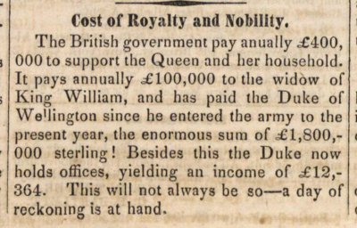 Cost Of Royalty And Nobility image
