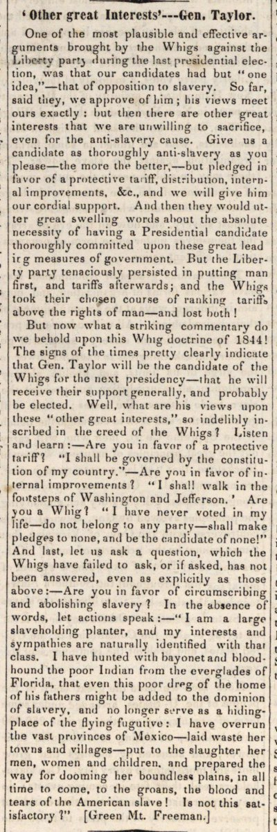 'other Great Interests'--gen. Taylor image