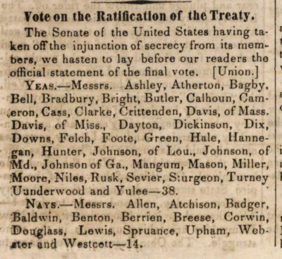 Vote On The Ratification Of The Treaty image