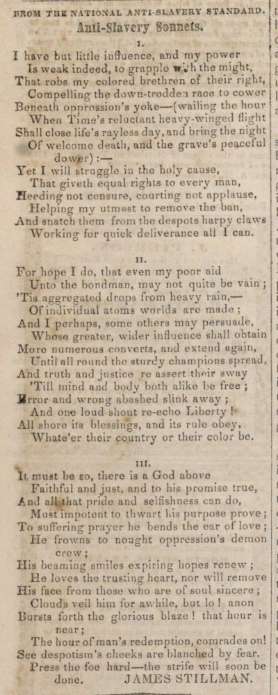 Anti-slavery Sonnets image