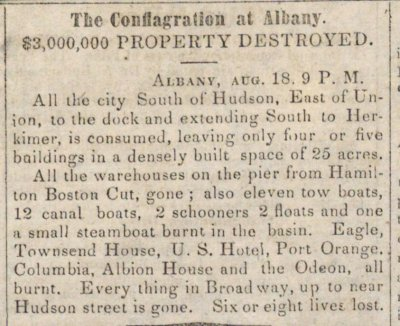 The Conflagration At Albany image