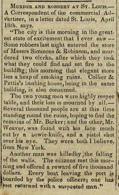 Murder And Robbery At St. Louis image