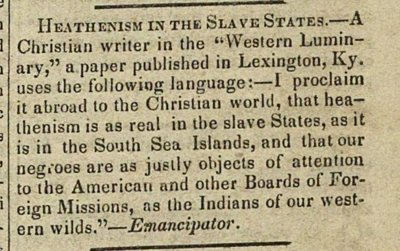Heathenism In The Slave States image