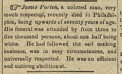 James Forten, A Colored Man, Very Much Respected, Rec... image
