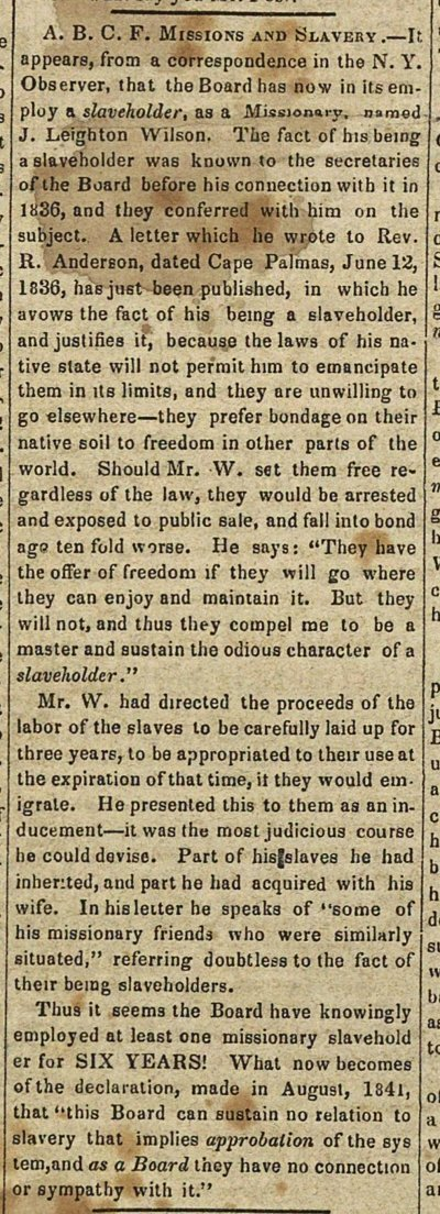 A. B. C. F. Missions And Slavery image
