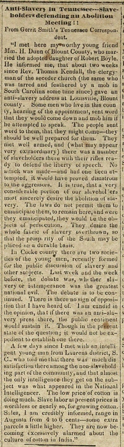 Anti-slavery In Tennessee--slaveholders Defending An Aboliti... image