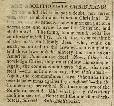 Are Abolitionists Christians? image