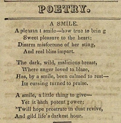 Poetry: A Smile image