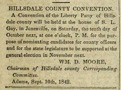 Hillsdale County Convention image