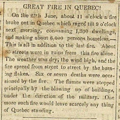 Great Fire In Quebec! image