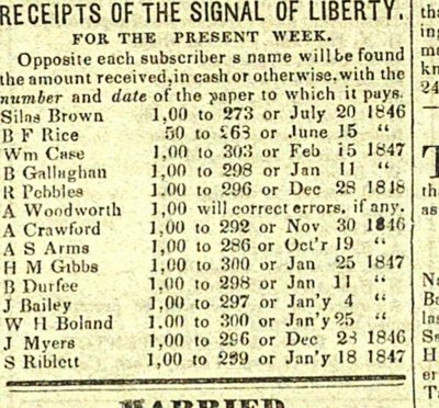 Receipts Of The Signal Of Liberty: For The Present Week image