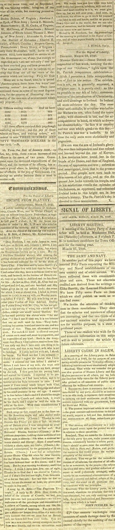 Communications: For The Signal Of Liberty: Escape From Slave... image