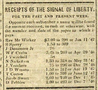Receipts Of The Signal Of Liberty: For The Past And Present ... image