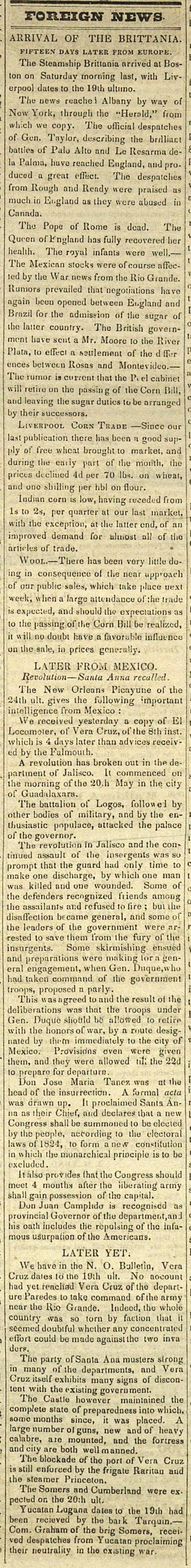 Foreign News: Arrival Of The Brittania: Fifteen Days Later F... image