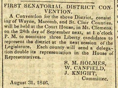 First Senatorial District Convention image