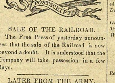Postscript: Sale Of The Railroad image
