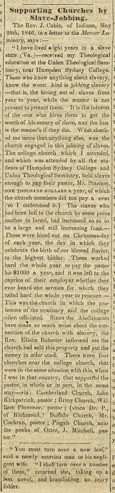 Supporting Churches By Slave-jobbing image