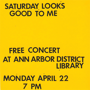 Graphic for a live concert performed at AADL in April 2013