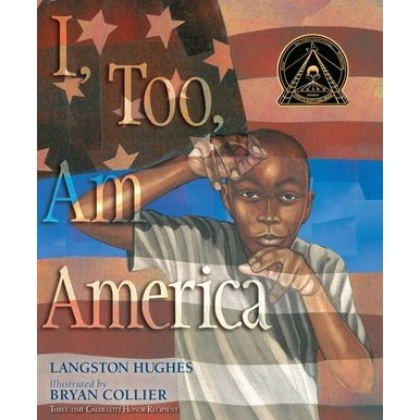 Book cover.  Young man in front of the flag of the United States.