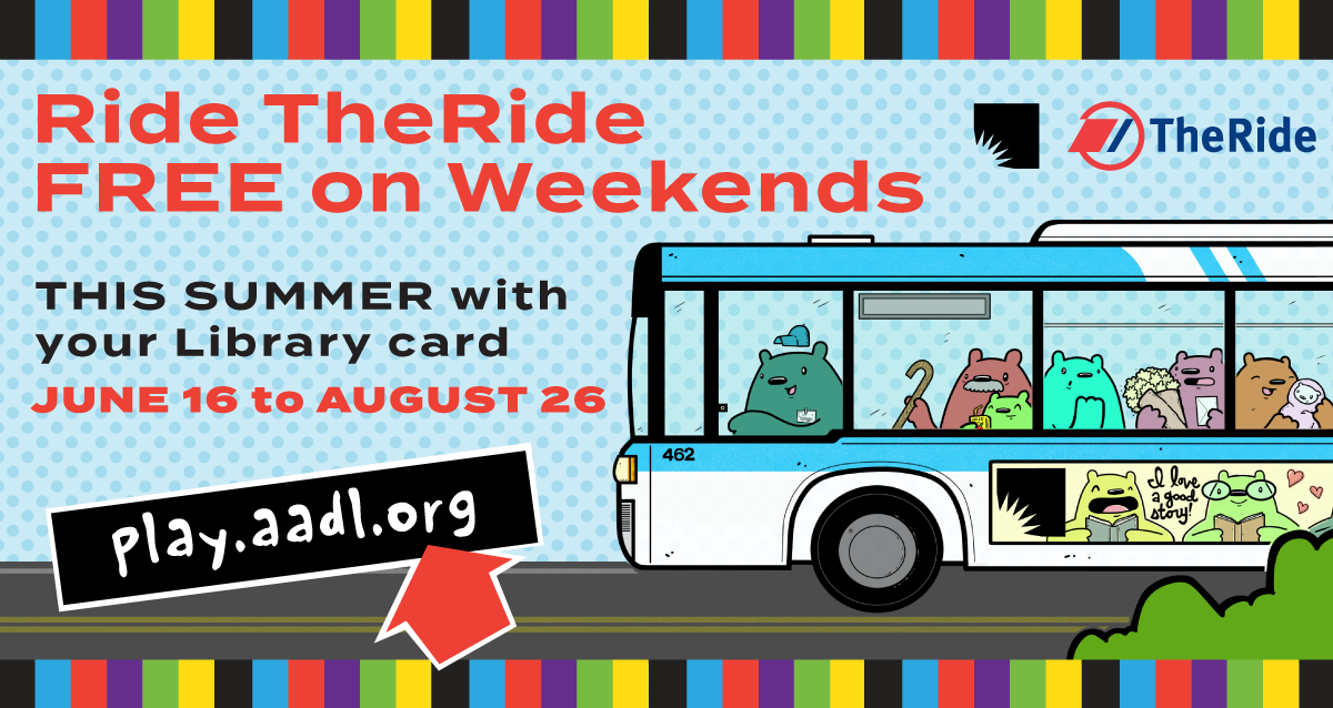 AAATA Free Ride Weekends: Just Show Your Library Card