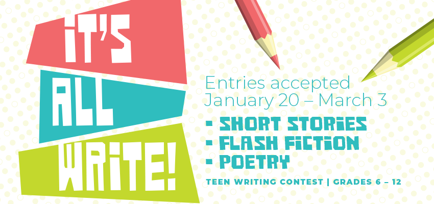 Kids' and Teen writing contests begin January 20! | Ann