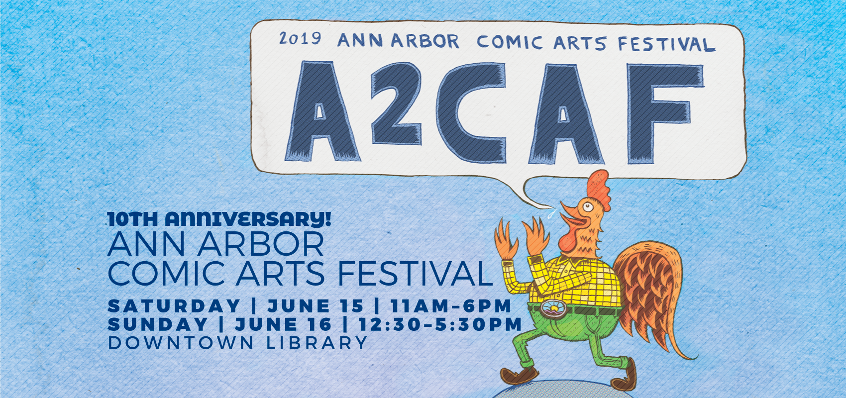 Ann Arbor Comic Arts Festival promo graphic
