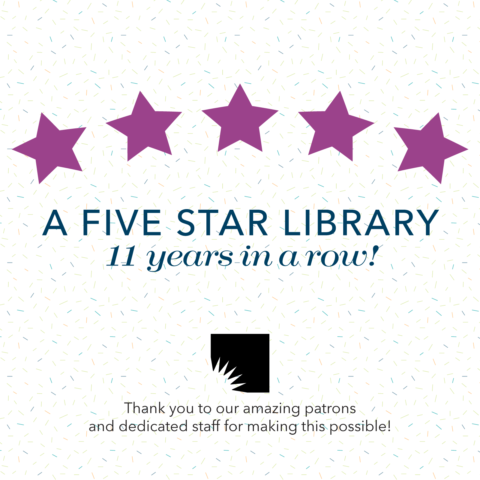 AADL Named Five Star Library by Library Journal