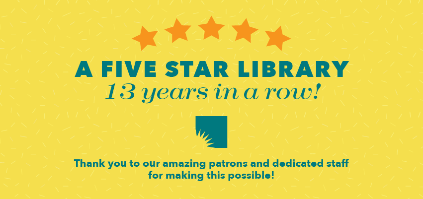 AADL Five Star Library 13 Years in a Row