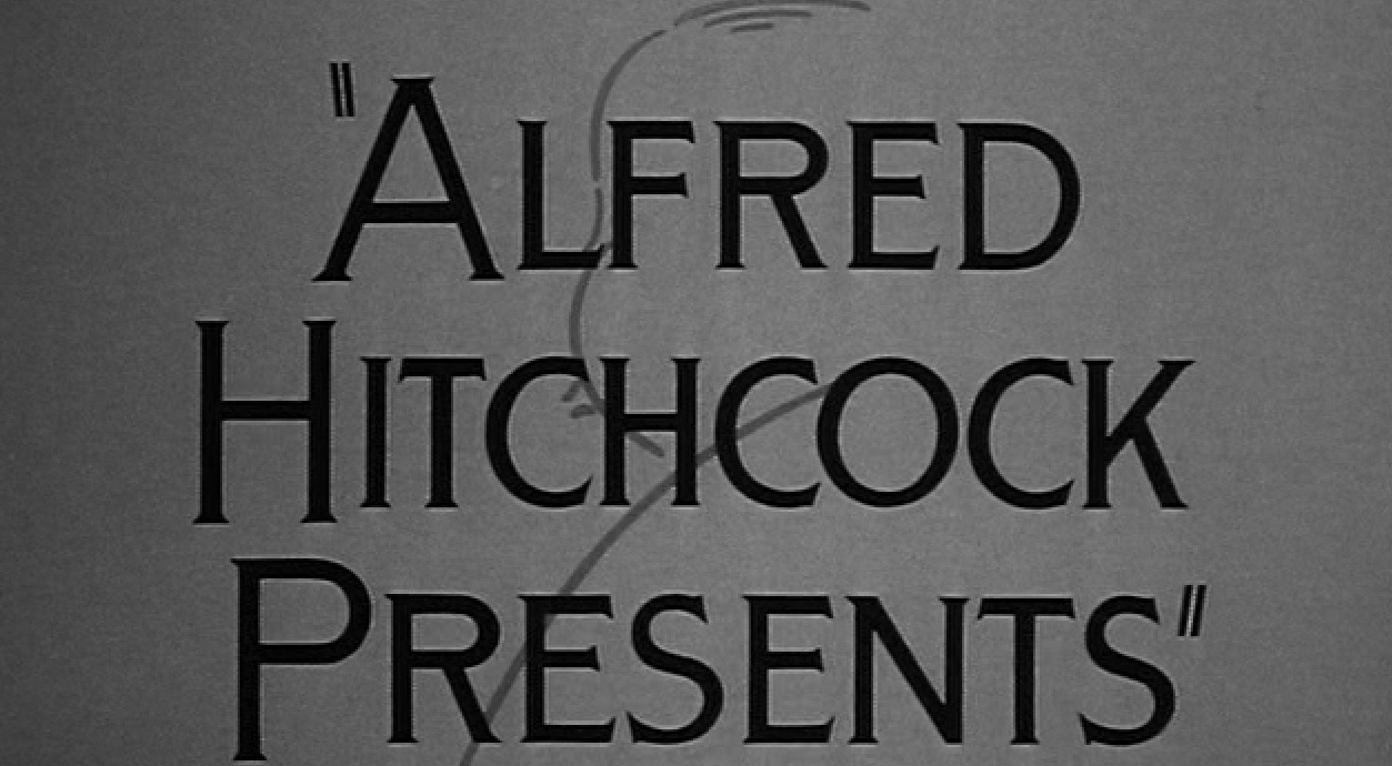 The Alfred Hitchcock Presents logo from the first episode.