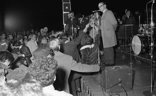 Senator Philip A. Hart at October 15, 1969 Peace Rally