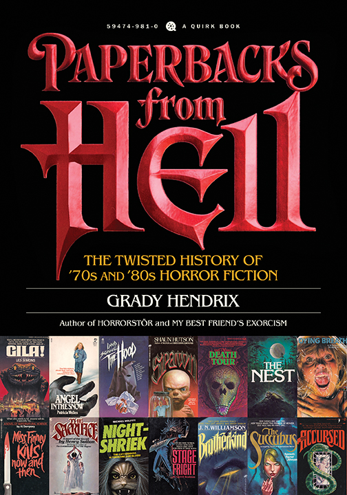 Cover Art for Paperbacks From Hell