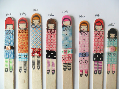 Popsicle Stick Paper Dolls