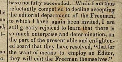 Signal of Liberty article, April 28, 1841