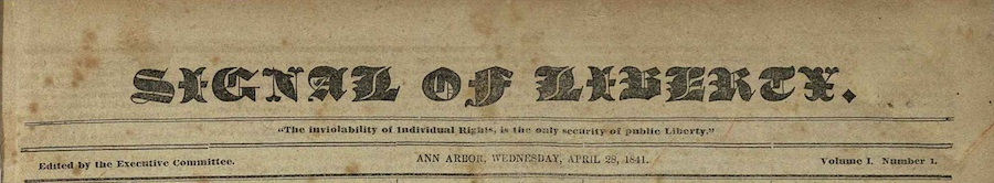 Signal of Liberty masthead, April 28, 1841