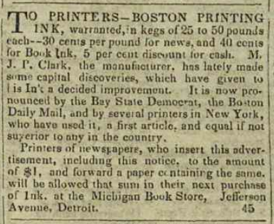 Ad for Boston Printing Ink