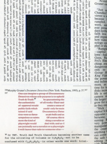 a page from House of Leaves
