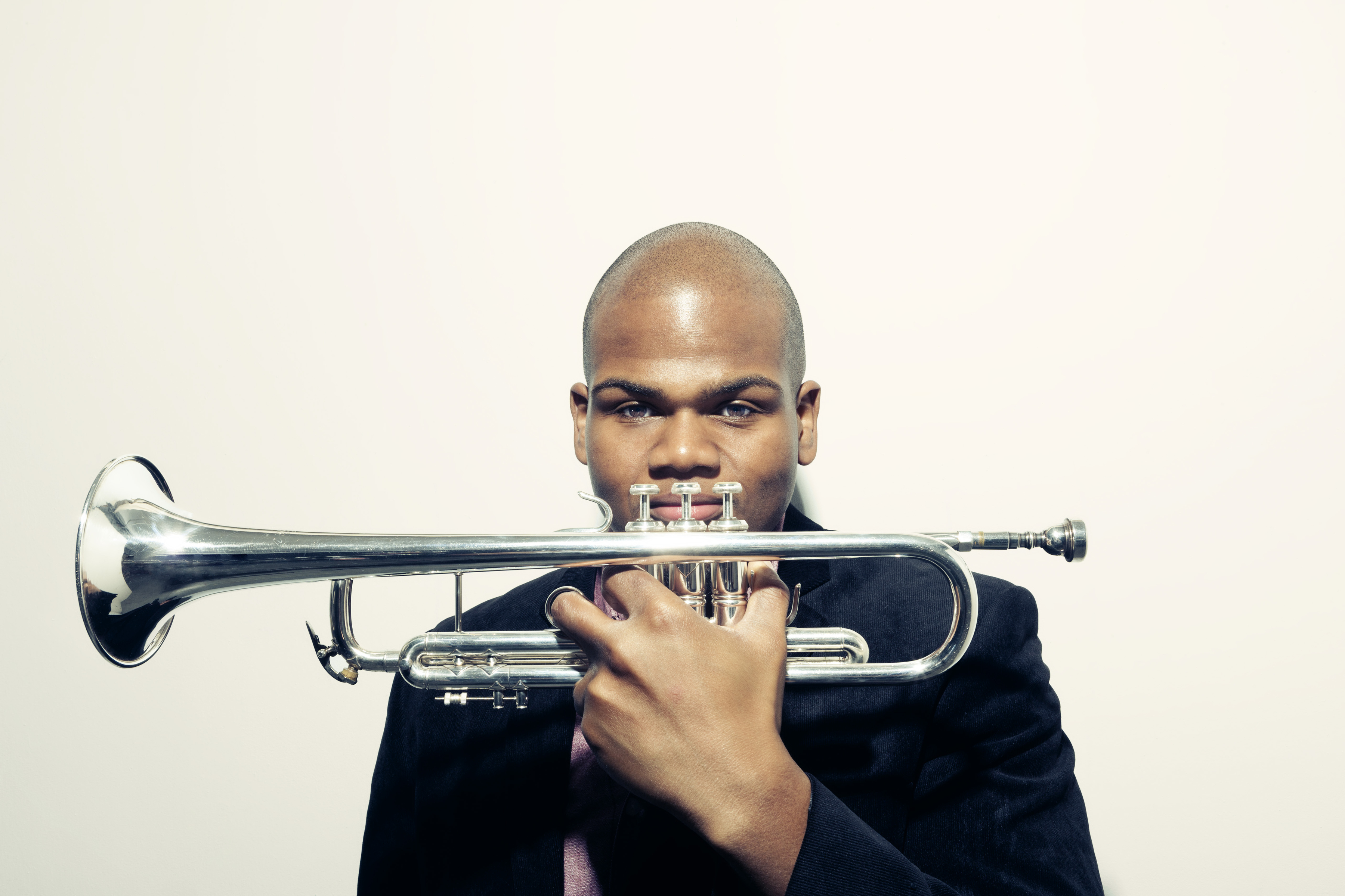 curtis taylor with his trumpet