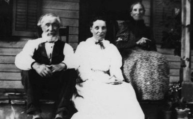 William Lambie and family on their front porch