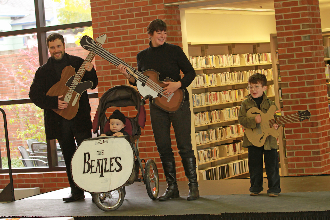 The Beatles take the stage at AADL's Halloween Costume Contest. (2016)