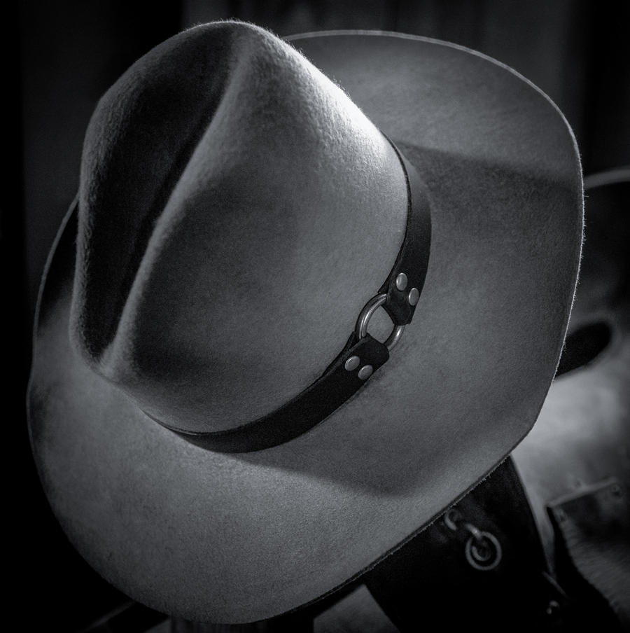 A hat, representative of the ones worn by Buffalo Soldiers.
