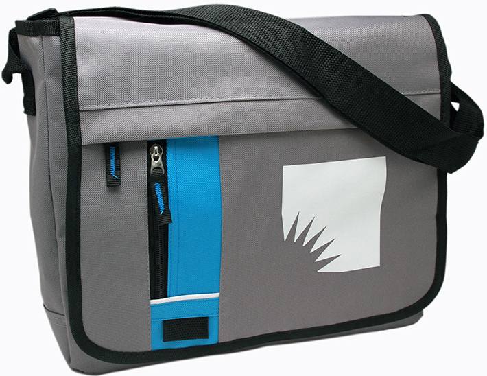 Ziptop Fliptop Messenger Bag - Blue