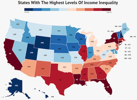 States With The Fastest Growing Income Inequality