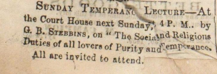 Sunday Temperance Lecture image