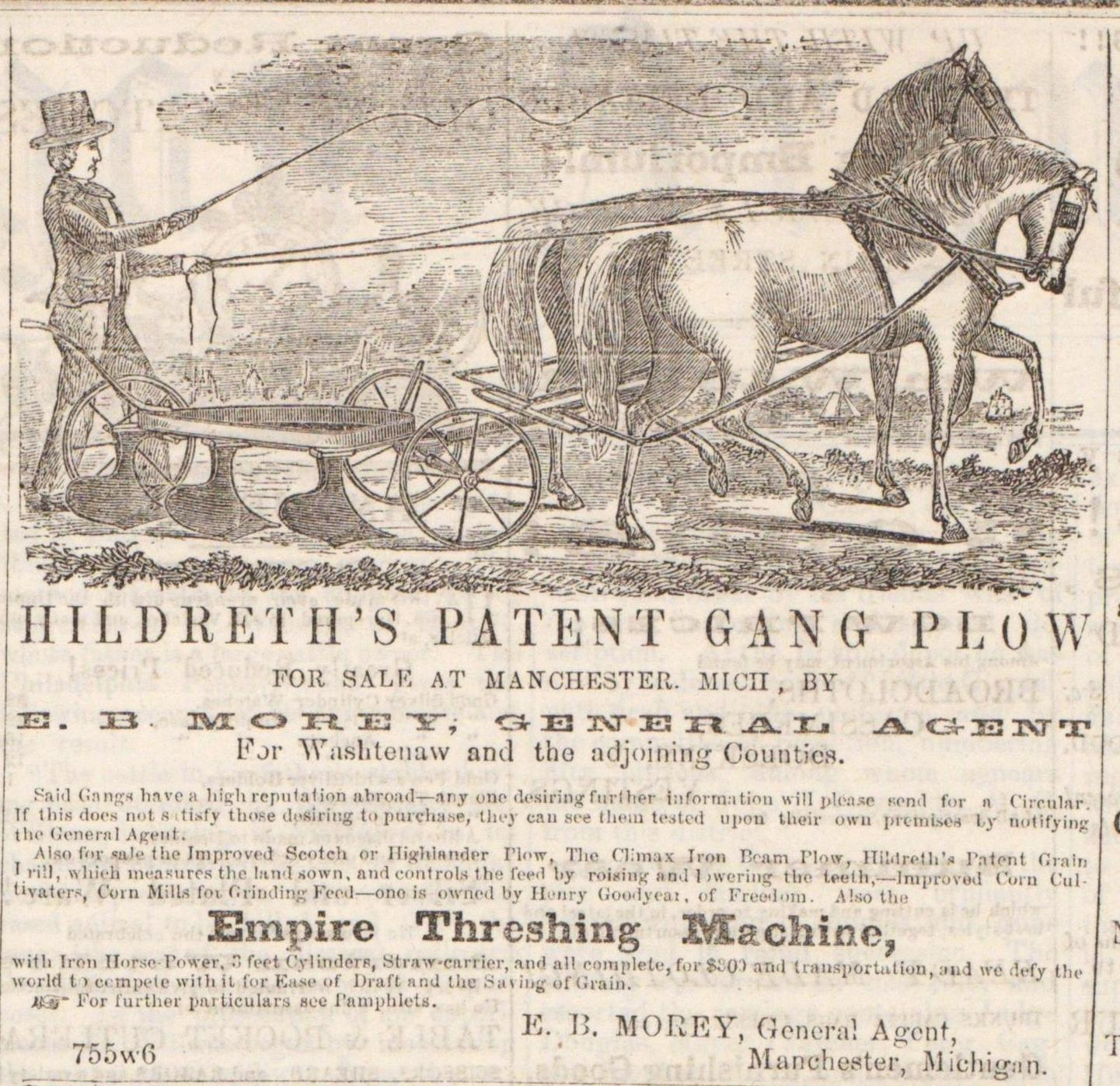 Hildreth's Patent Gang Plow image