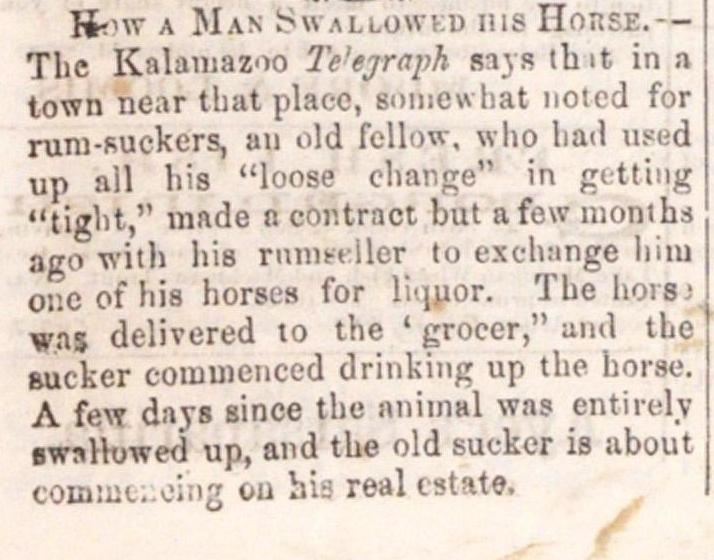 How A Man Swallowed His Horse image