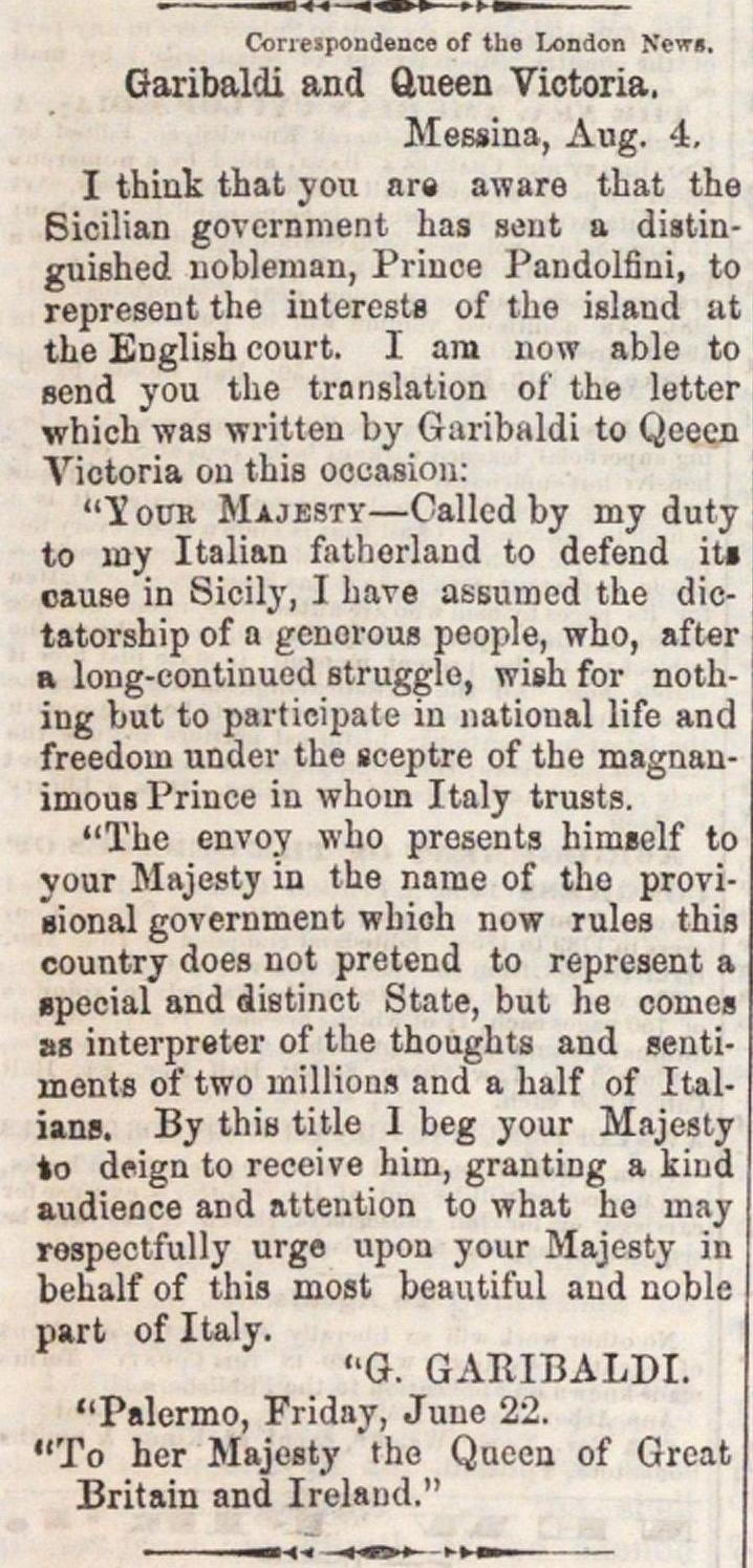 Garibaldi And Queen Victoria image