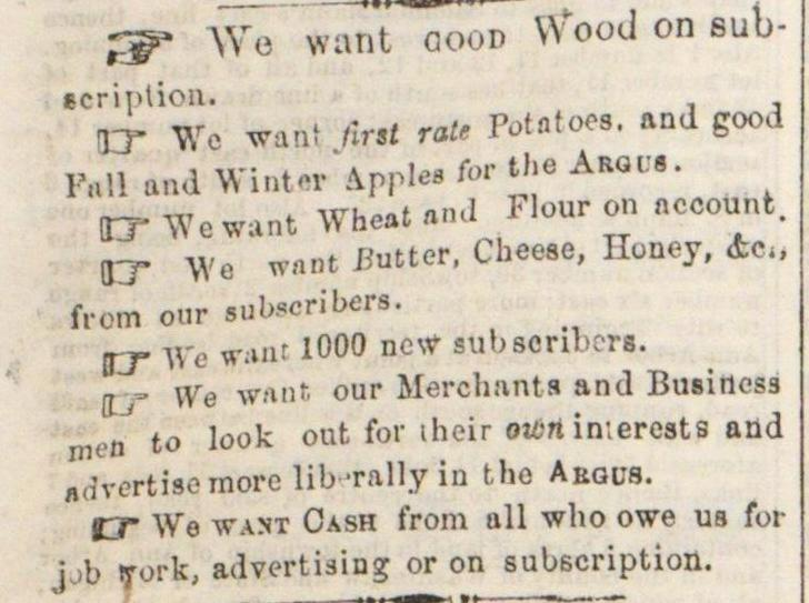 We Want Good Wood On Subscription image