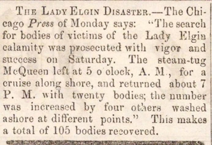 The Lady Elgin Disaster image