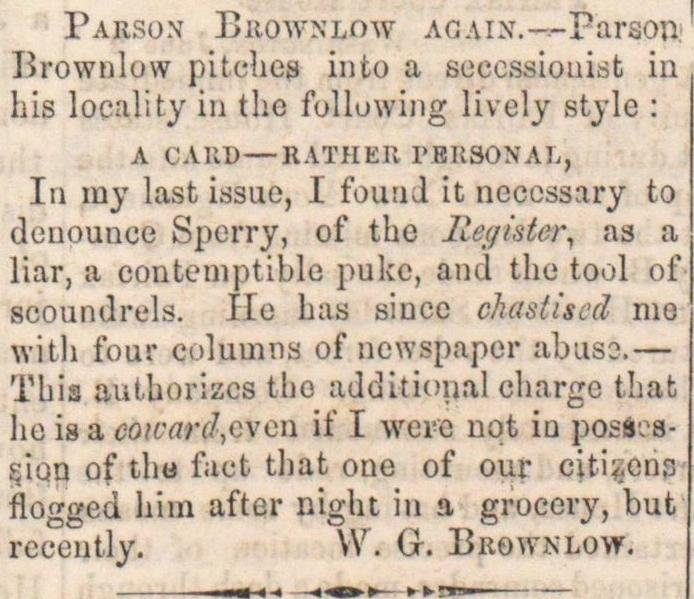 Parson Brownlow Again image