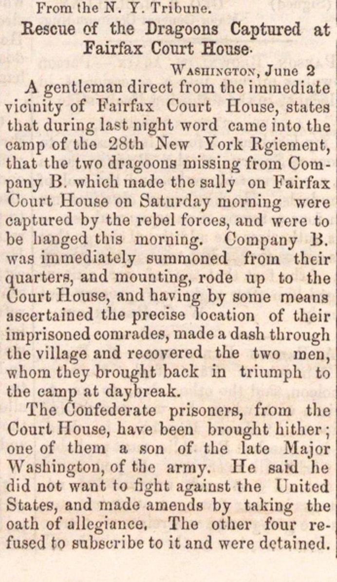 Rescue Of The Dragoons Captured At Fairfax Court House image